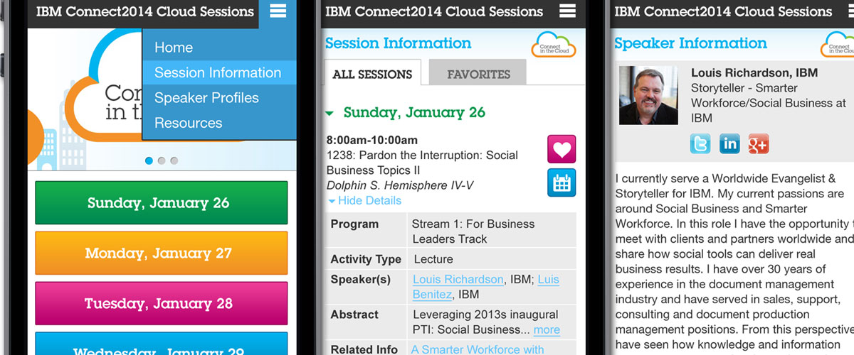 IBM Connect Cloud Sessions
